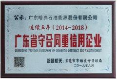 """哈弗bwin最新登录网址连续五年荣获""""广东省守合同重信用企业""""称号"""